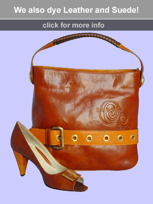 Dye leather and suede shoes and handbags